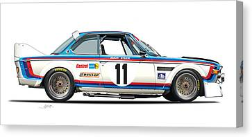 Bmw 3.0 Csl Chris Amon, Hans Stuck Canvas Print
