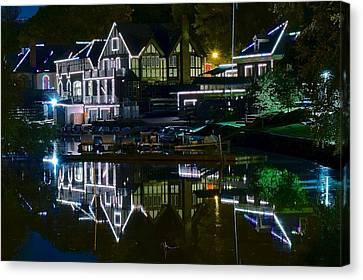 Boathouse Row II Canvas Print by Frozen in Time Fine Art Photography