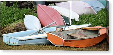 Boats Boats And More Boats Canvas Print by Barbara Snyder