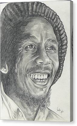 Bob Marley Canvas Print by Stephen Sookoo