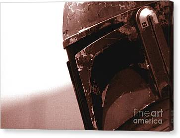 Canvas Print featuring the photograph Boba Fett Helmet 32 by Micah May