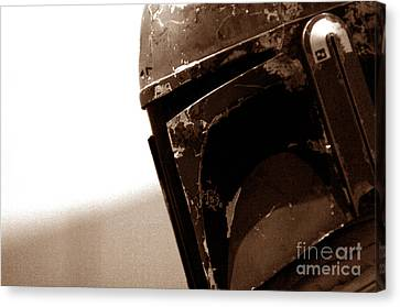Canvas Print featuring the photograph Boba Fett Helmet 33 by Micah May