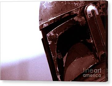 Canvas Print featuring the photograph Boba Fett Helmet 34 by Micah May