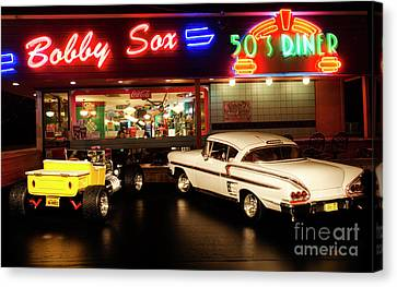 Bobby Sox 50's Diner Canvas Print by Bob Christopher