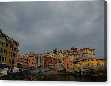 Boccadasse Bay, Genoa, Italy Canvas Print by Cesare Palma