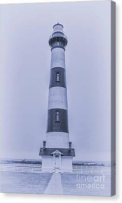 Bodie Island Lighthouse In Blue Canvas Print by Randy Steele
