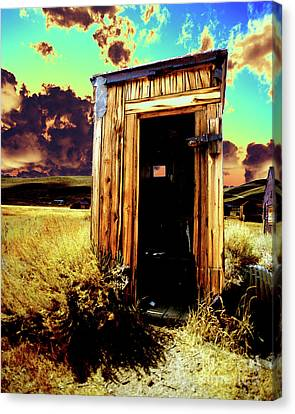 Bodie Outhouse Canvas Print by Jim and Emily Bush