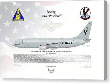 Boeing P-8a Poseidon Canvas Print by Arthur Eggers