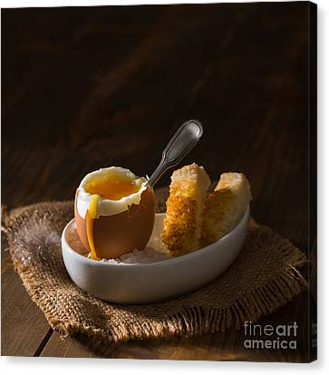 Egg-cup Canvas Print - Boiled Egg by Amanda Elwell