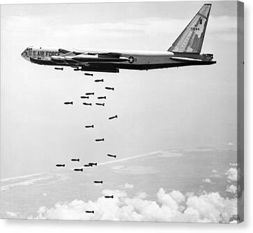 Bombing Vietnam Canvas Print by Underwood Archives