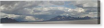 Canvas Print featuring the photograph Bonneville Salt Flats by Daniel Hebard