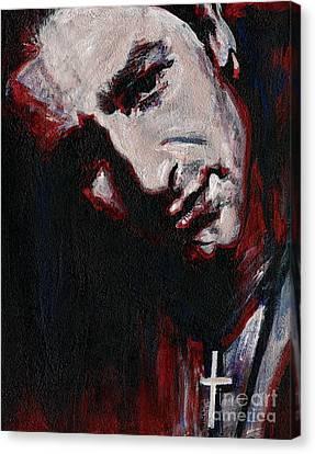 Bono - Man Behind The Songs Of Innocence Canvas Print by Tanya Filichkin