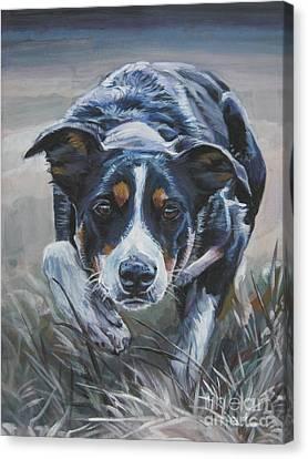 Border Collie Canvas Print by Lee Ann Shepard