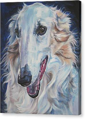 Borzoi Canvas Print by Lee Ann Shepard