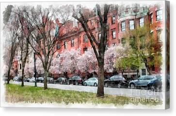 Boston Back Bay In Spring Canvas Print