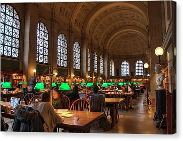 Canvas Print featuring the photograph Boston Public Library by Joann Vitali