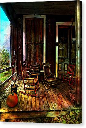 The Country Store Porch Canvas Print by Julie Dant