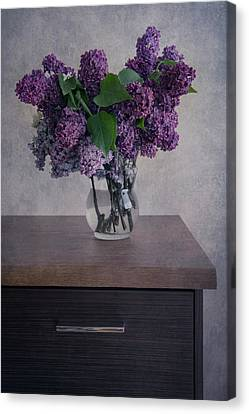 Canvas Print featuring the photograph Bouquet Of Fresh Lilacs by Jaroslaw Blaminsky