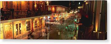 Bourbon Street, French Quarter, New Canvas Print by Panoramic Images
