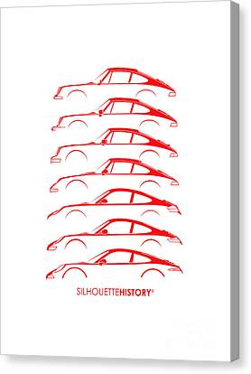 Boxer Sports Car Silhouettehistory Canvas Print