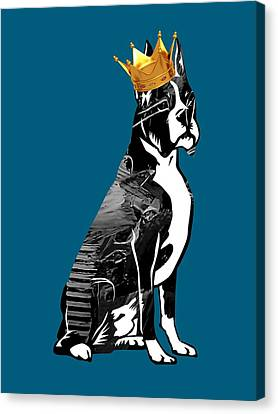 Boxer With Crown Collection Canvas Print by Marvin Blaine