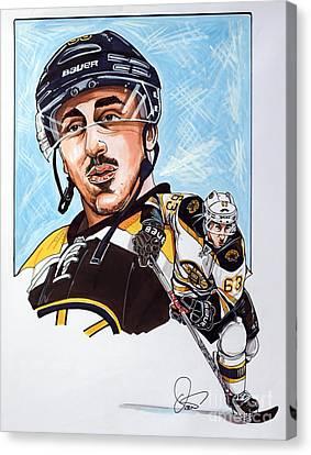 Nhl Hockey Canvas Print - Brad Marchand by Dave Olsen