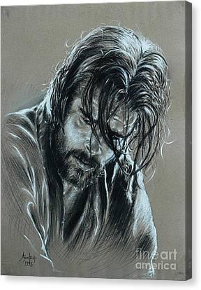 Brad Pitt Canvas Print by Anastasis  Anastasi