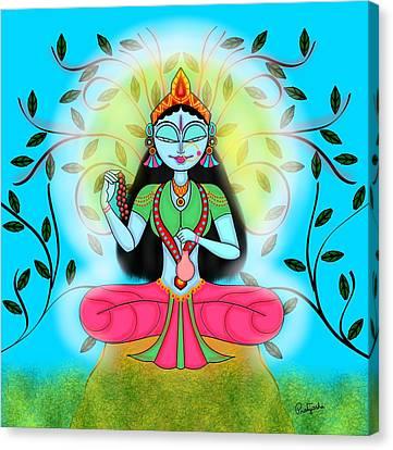 Brahmacharini Canvas Print by Pratyasha Nithin