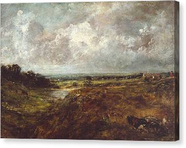 Branch Hill Pond Canvas Print - Branch Hill Pond by John Constable