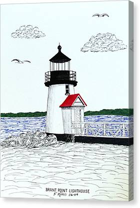Brant Point Lighthouse Canvas Print by Frederic Kohli