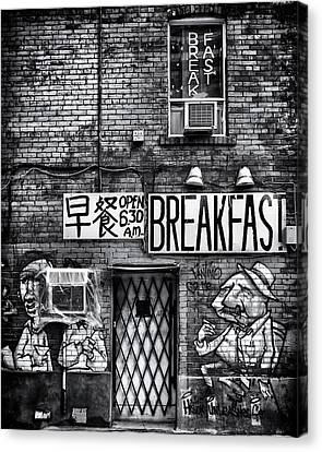 Canvas Print featuring the photograph Breakfast by Brian Carson
