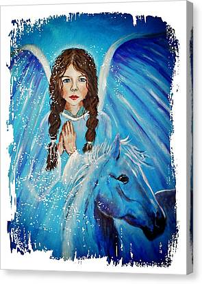 Brianna Little Angel Of Strength And Courage Canvas Print by The Art With A Heart By Charlotte Phillips