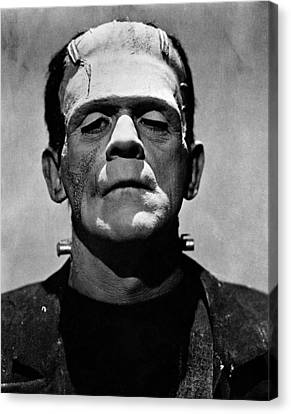 Horror Fantasy Movies Canvas Print - Bride Of Frankenstein, Boris Karloff by Everett