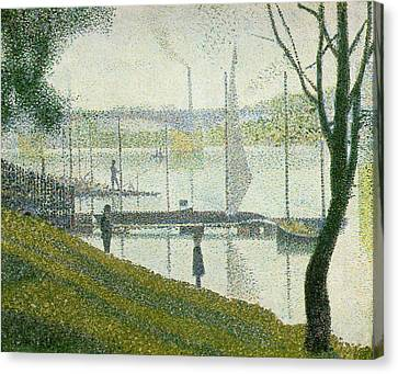 Bridge At Courbevoie Canvas Print by Georges Seurat