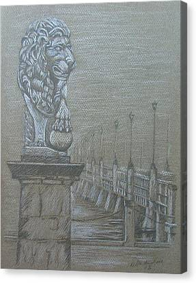 Florida Bridge Canvas Print - Bridge Of Lions by Dan Hausel