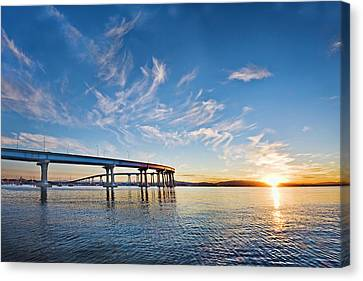 Bridge Sunrise Canvas Print