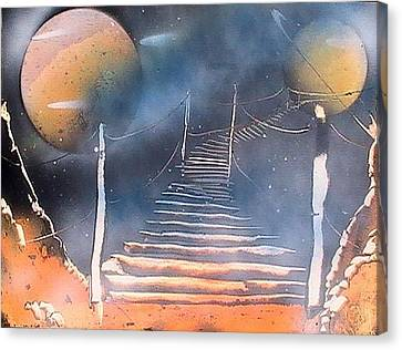 Bridge To Space Canvas Print by My Imagination Gallery