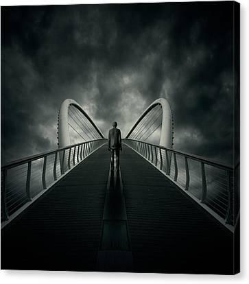 Storm Canvas Print - Bridge by Zoltan Toth