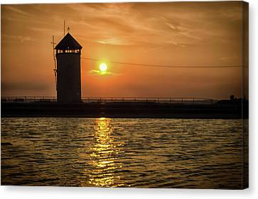 Nature Scene Canvas Print - Brightlingsea Sunset by Martin Newman
