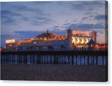 Brighton At Night Canvas Print by Joana Kruse