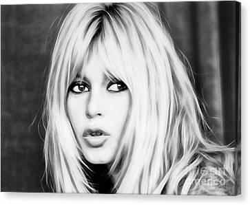 Brigitte Bardot Collection Canvas Print