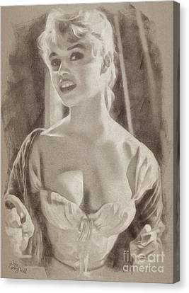 Brigitte Bardot Hollywood Actress Canvas Print by John Springfield