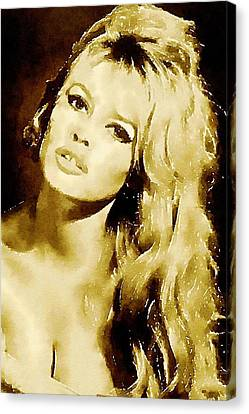 Brigitte Bardot Hollywood Icon By John Springfield Canvas Print by John Springfield