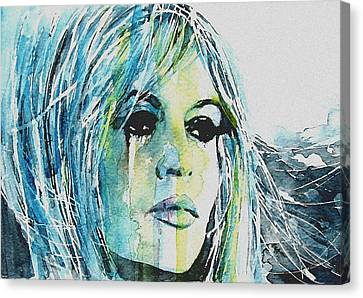 Brigitte Bardot Canvas Print by Paul Lovering