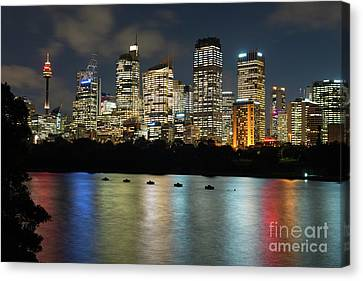 Brisbane Skyline After Dark Canvas Print