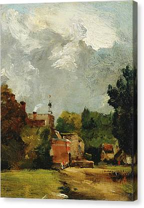 British Title East Bergholt Church Canvas Print by MotionAge Designs