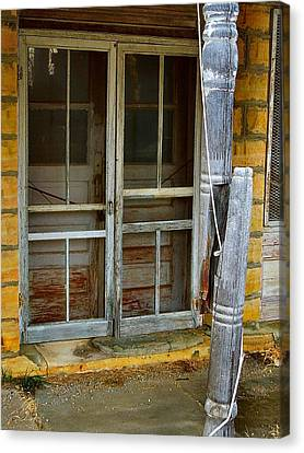 Screen Doors Canvas Print - Broke by Lynne and Don Wright