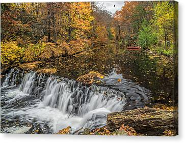 Bronx River Waterfall Canvas Print by June Marie Sobrito