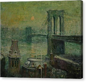 Lawson Canvas Print - Brooklyn Bridge by Ernest Lawson