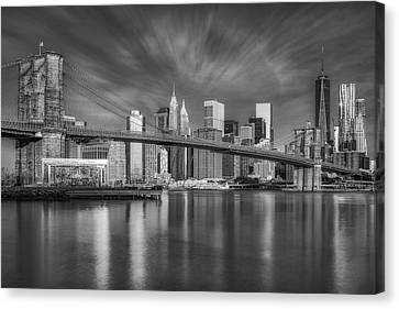 New York City Skyline Canvas Print - Brooklyn Bridge From Dumbo by Susan Candelario